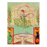 Diosa virginal Athena Tarjeta Postal
