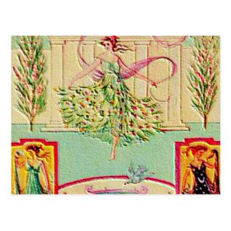 Diosa virginal Athena Postales