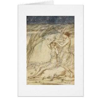 Diosas del agua tarjeta de felicitación