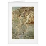 Diosas griegas sobre el agua tarjeta