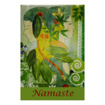 "Diosas verdes de Namaste 24"" x 36"" poster"
