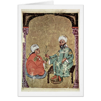 Dioscorides And A Pupil By Arab Painter Cards