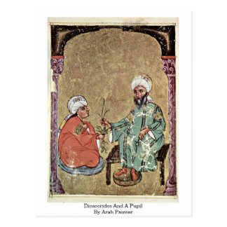 Dioscorides And A Pupil By Arab Painter Postcard