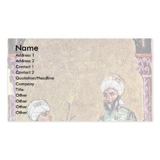 Dioscorides y un alumno tarjeta de negocio