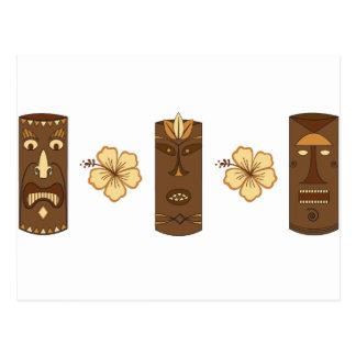 Dioses de Hawiian Tiki Postal