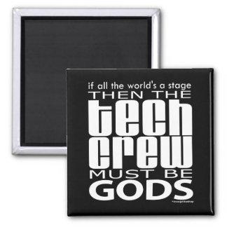 Dioses del equipo de la tecnología imán cuadrado