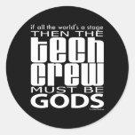Dioses del equipo de la tecnología etiqueta redonda