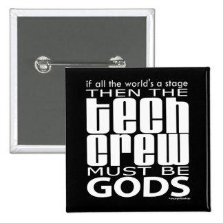 Dioses del equipo de la tecnología pin cuadrado