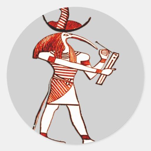 Dioses egipcios Ptah* *Memphian Etiquetas Redondas