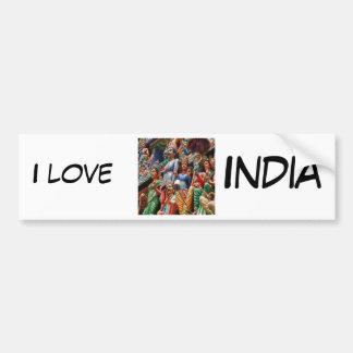 Dioses hindúes etiqueta de parachoque
