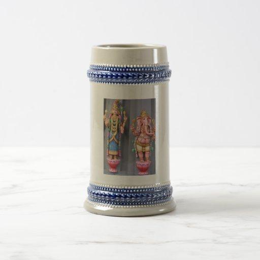 Dioses hindúes jarra de cerveza