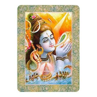 """Dioses indios/señor Shiva - tarjeta de la Invitación 5"""" X 7"""""""
