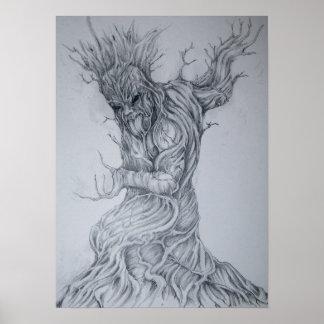 Dioses maoríes, Tane Mahuta. Dios del bosque Póster