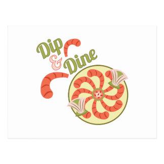 Dip & Dine Postcard