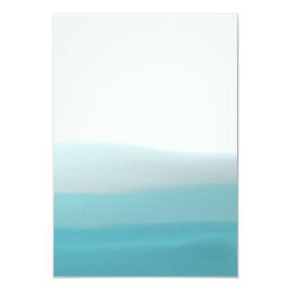Dip Dye Blue Blank Card