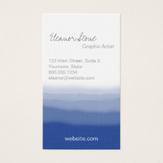 Dip Dye Effect Business Card