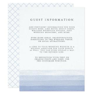 Dip Dye Guest Details Enclosure Card | Amethyst