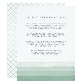 Dip Dye Guest Details Enclosure Card | Fern
