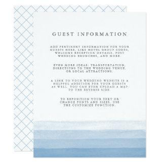 Dip Dye Guest Details Enclosure Card | Sky
