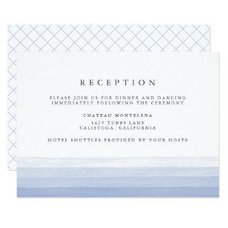 Dip Dye Watercolor Reception Card | Amethyst