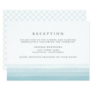 Dip Dye Watercolor Reception Card | Aqua
