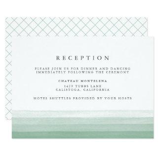 Dip Dye Watercolor Reception Card | Fern