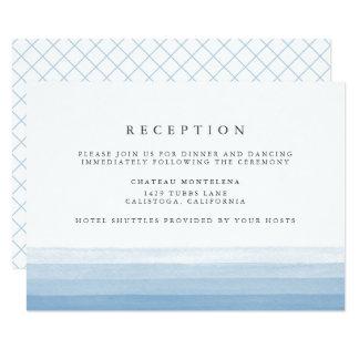 Dip Dye Watercolor Reception Card | Sky