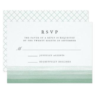 Dip Dye Watercolor RSVP Card | Fern