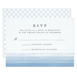 Dip Dye Watercolor RSVP Card | Sky