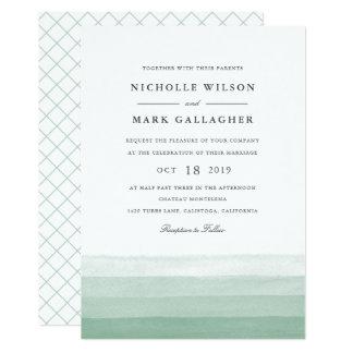 Dip Dye Watercolor Wedding Invitation | Fern