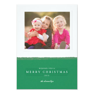 Dip-Dyed One-Photo Christmas Card