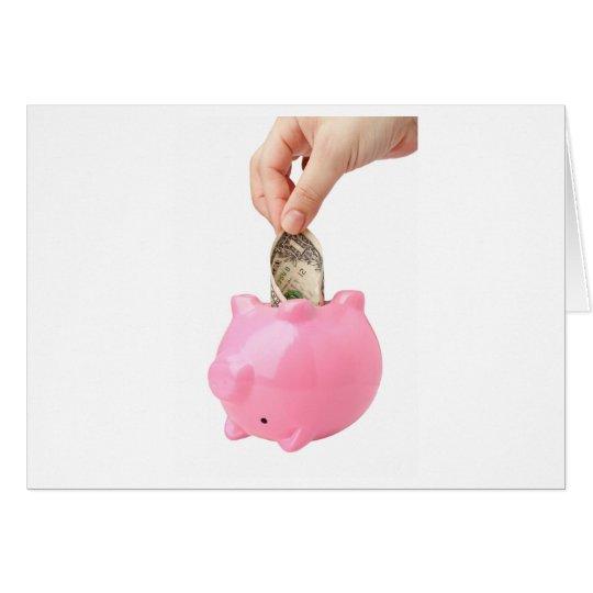 Dip into savings card