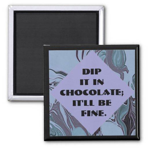 dip it in chocolate joke fridge magnets