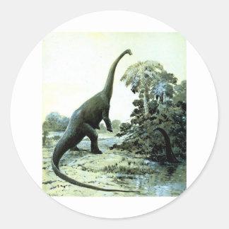 diplodocus-1 classic round sticker