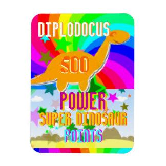 Diplodocus 500 Power Super Dinosaur Points Rectangular Photo Magnet