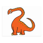 Diplodocus anaranjado postal