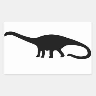 Diplodocus Dinosaur Rectangular Sticker