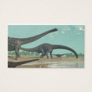 Diplodocus dinosaurs herd - 3D render Business Card