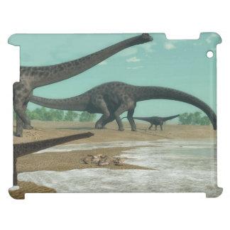 Diplodocus dinosaurs herd - 3D render iPad Cases