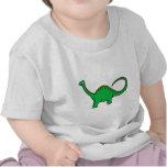 Diplodocus verde camisetas