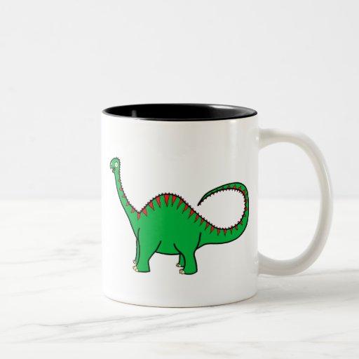 Diplodocus verde taza