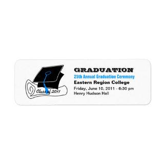 Diploma 2 de la etiqueta de la invitación de la etiqueta de remitente