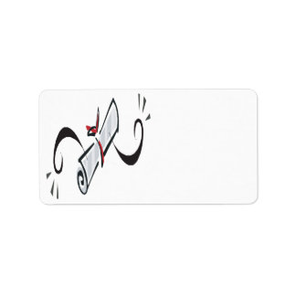 Diploma 2 personalized address label