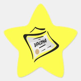 Diploma 3 pegatina en forma de estrella