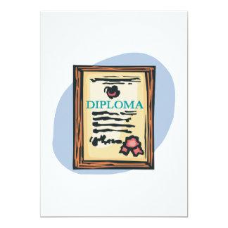 Diploma 4 5x7 paper invitation card