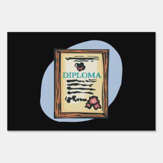 Diploma 4 yard sign