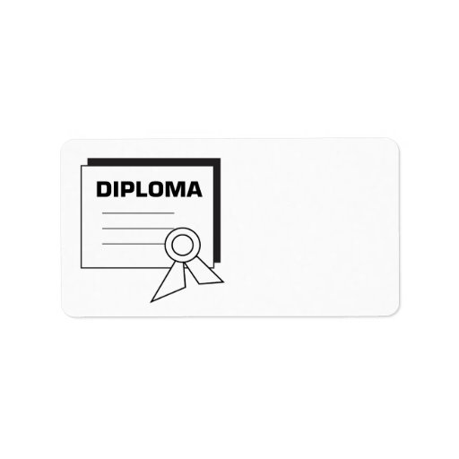 Diploma 6 personalized address labels