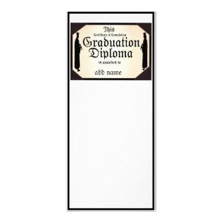 Diploma alto derecho graduado tarjetas publicitarias a todo color
