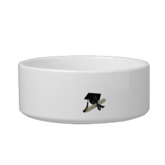 Diploma and Graduation Cap ( Mortar Board ) Bowl
