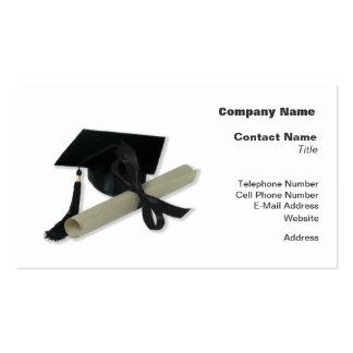 Diploma and Graduation Cap ( Mortar Board ) Business Cards